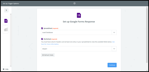 Add new Google Forms responses to AMPED as leads - AMPED